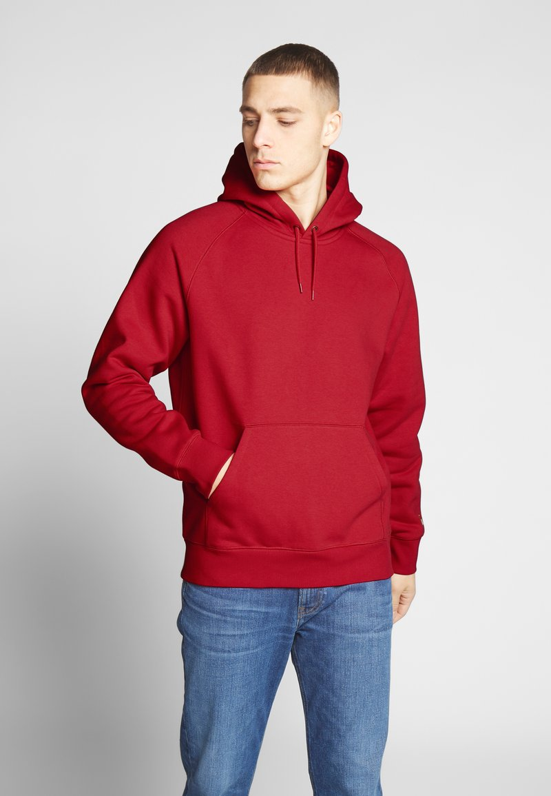 Carhartt WIP - HOODED CHASE  - Sweat à capuche - etna red/gold