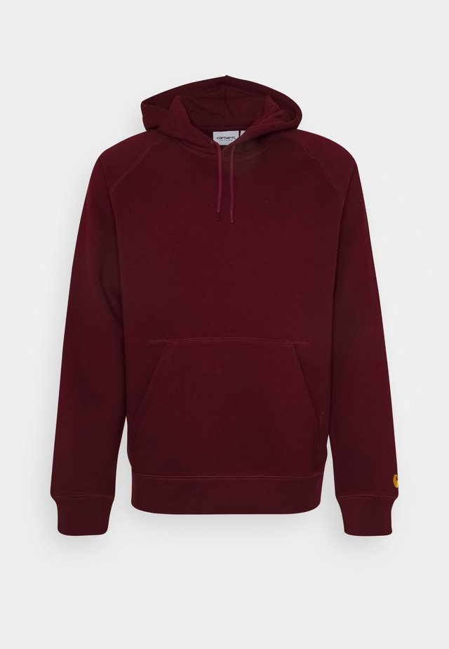 HOODED CHASE  - Jersey con capucha - bordeaux/gold