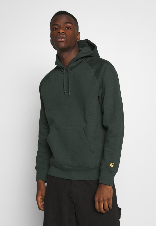 HOODED CHASE  - Jersey con capucha - dark teal/gold