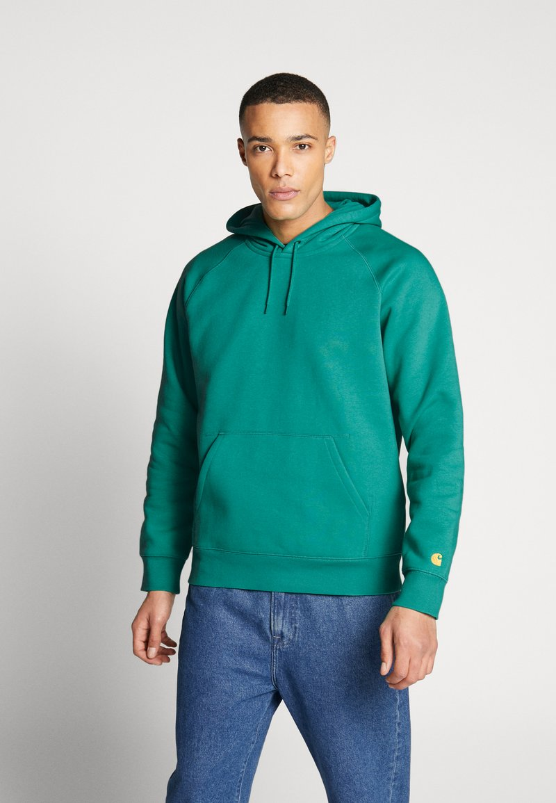 Carhartt WIP - HOODED CHASE  - Sweat à capuche - yoda/gold