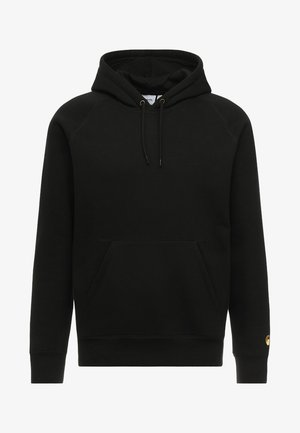 HOODED CHASE  - Sweat à capuche - black/gold