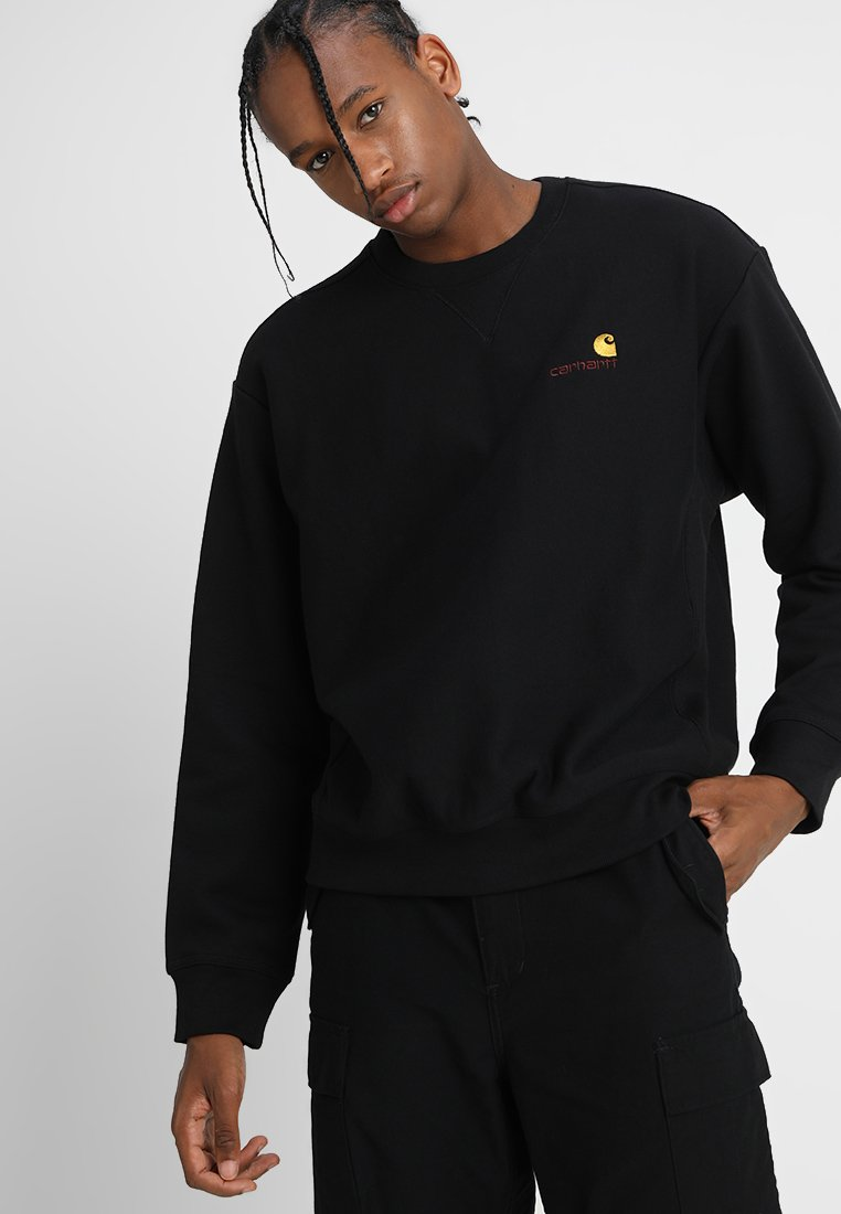 Carhartt WIP - AMERICAN SCRIPT - Collegepaita - black
