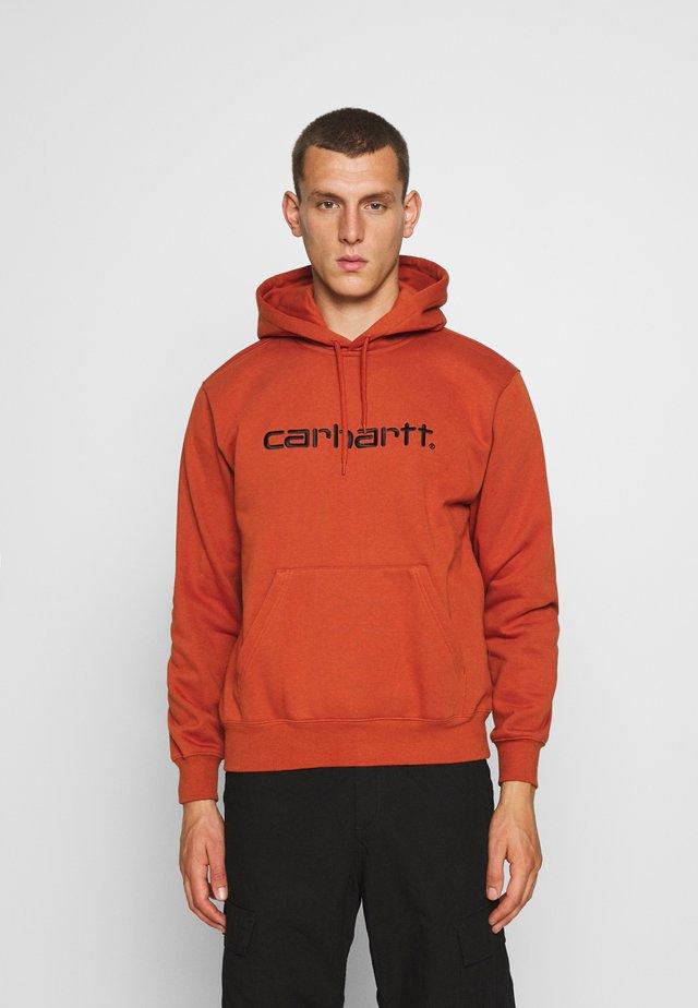 Jersey con capucha - cinnamon/black