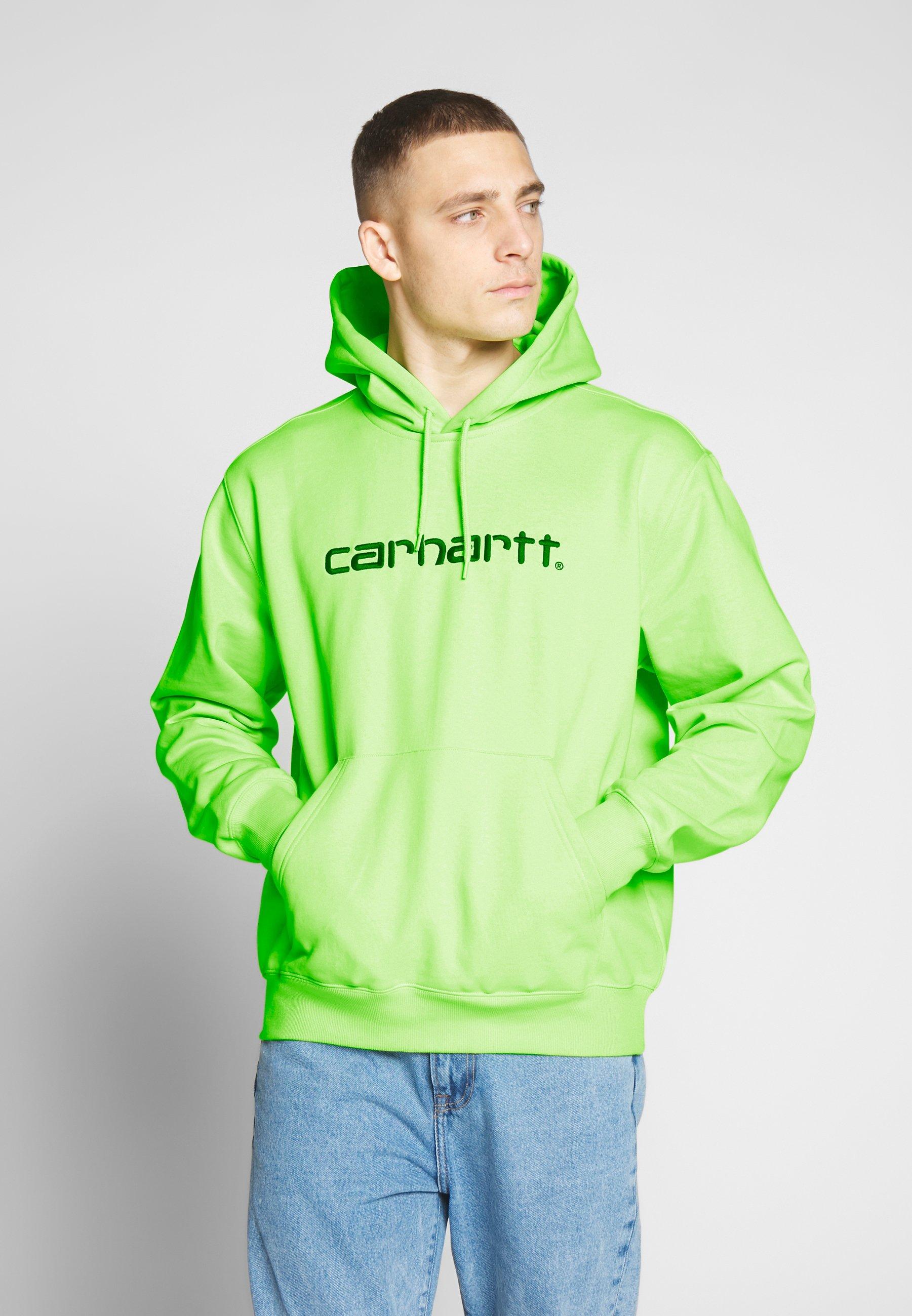 Carhartt WIP HOODED - Bluza z kapturem - lime/black