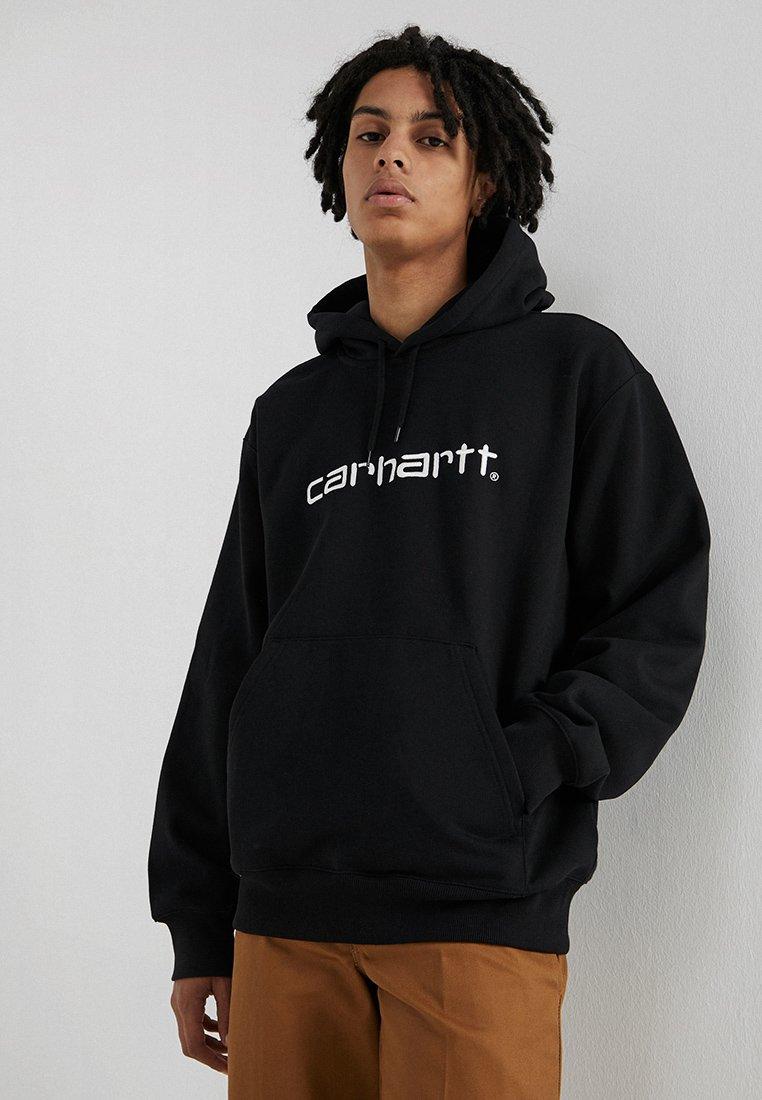 Carhartt WIP - HOODED  - Hoodie - black/white