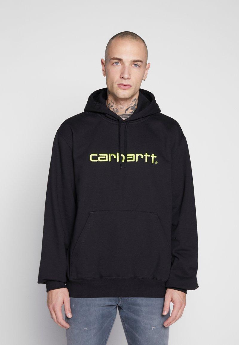 Carhartt WIP - HOODED  - Huppari - black/lime