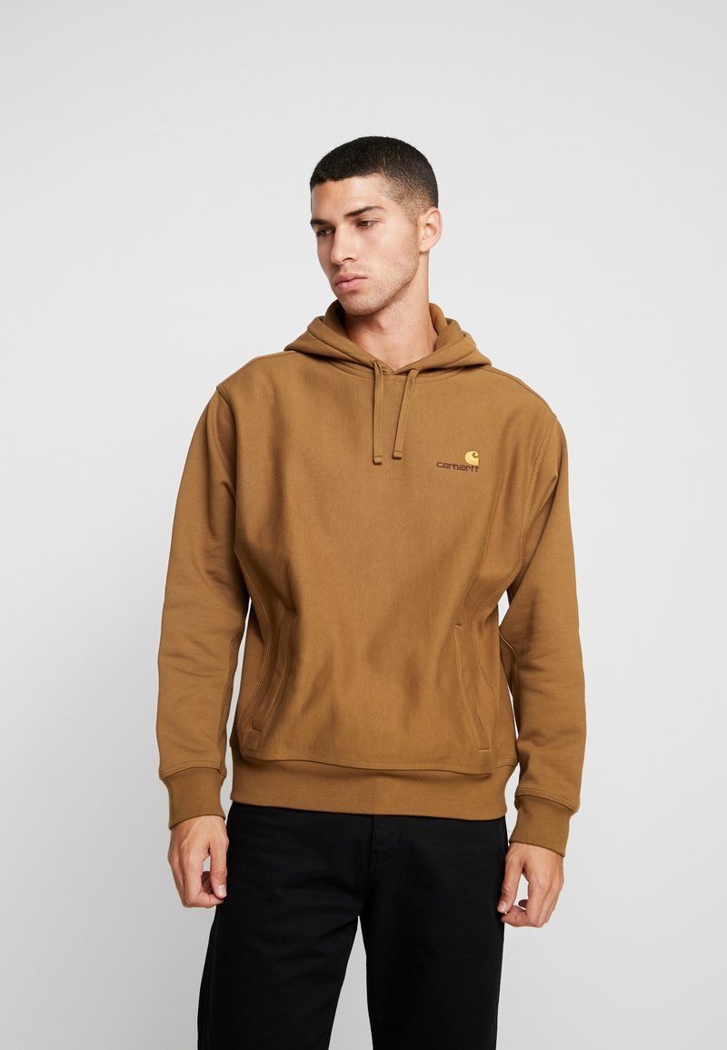 Carhartt WIP - HOODED AMERICAN SCRIPT - Mikina s kapucí - hamilton brown
