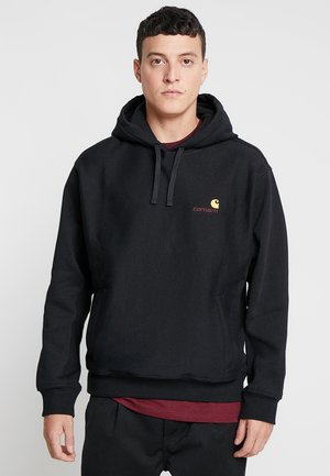 HOODED AMERICAN SCRIPT - Sweat à capuche - black