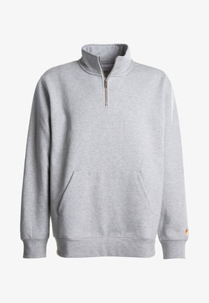 CHASE NECK ZIP  - Sweater - grey heather
