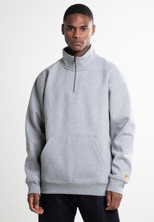 CHASE NECK ZIP  - Felpa - grey heather