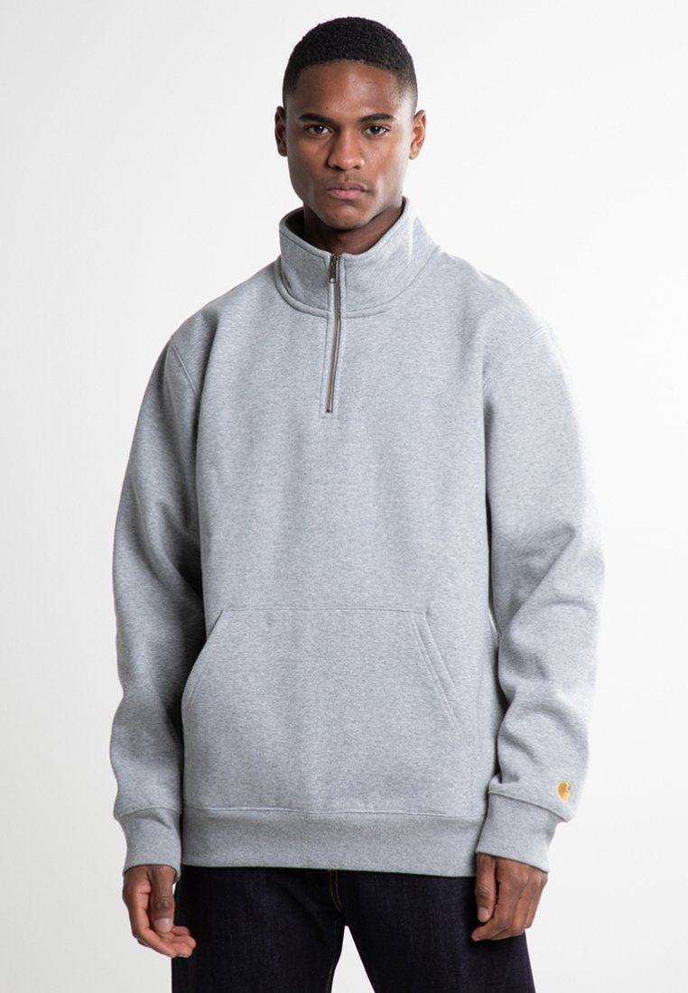 Carhartt WIP - CHASE NECK ZIP  - Bluza - grey heather