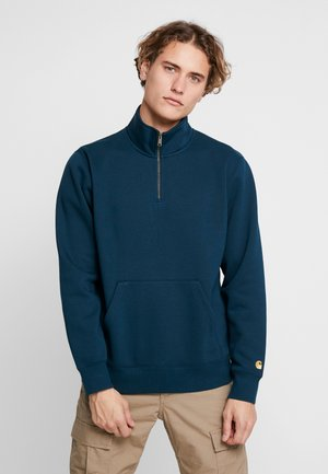 CHASE NECK ZIP  - Sudadera - duck blue / gold