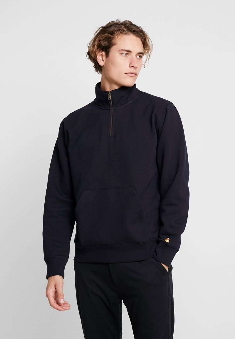 Carhartt WIP - CHASE NECK ZIP  - Sweatshirts - dark navy