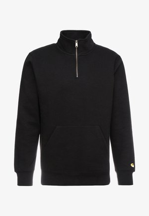 CHASE NECK ZIP  - Sweater - black/gold