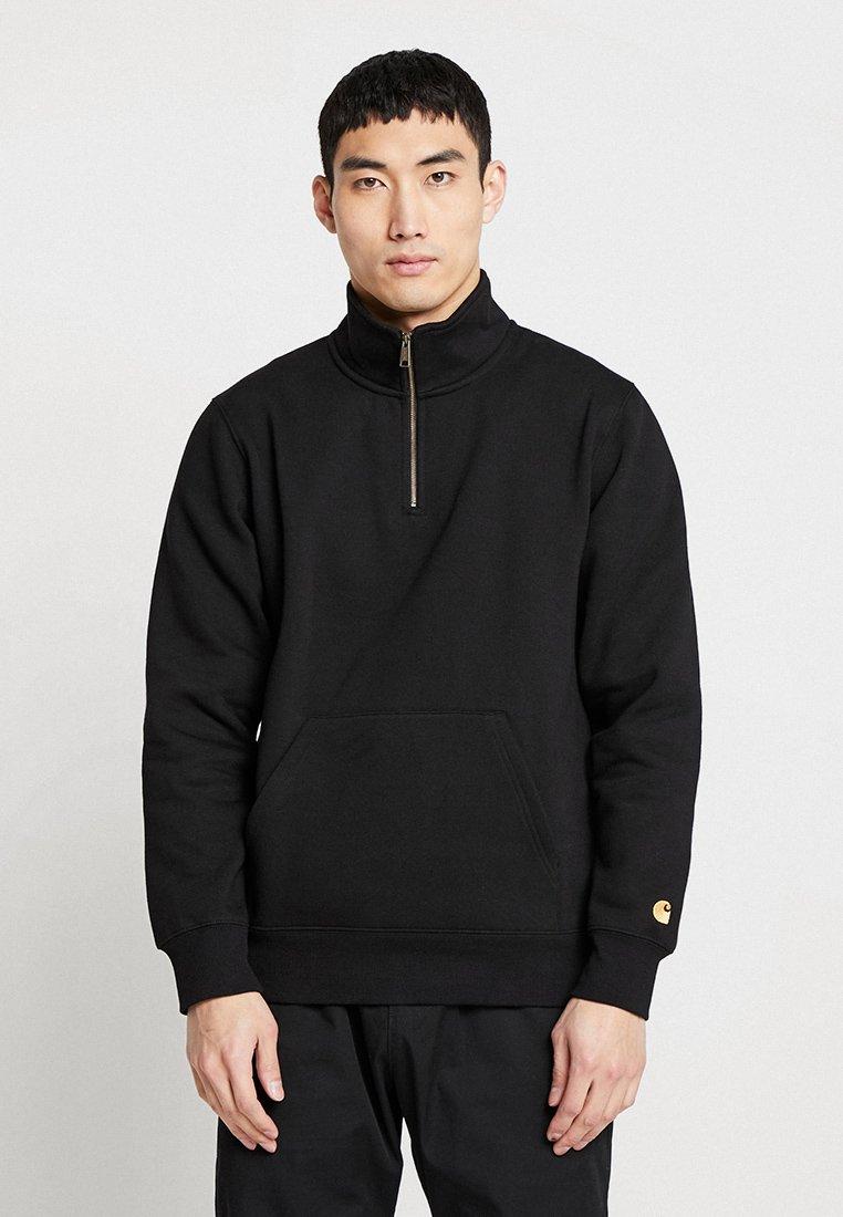Carhartt WIP CHASE NECK ZIP - Bluza - black/gold