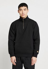 Carhartt WIP - CHASE NECK ZIP  - Sweatshirt - black/gold - 0