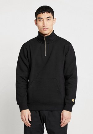 CHASE NECK ZIP  - Mikina - black/gold