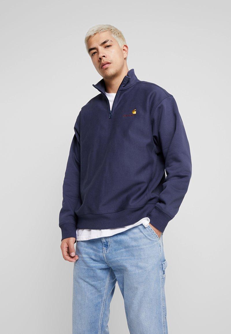Carhartt WIP - HALF ZIP AMERICAN SCRIPT - Sweatshirt - blue