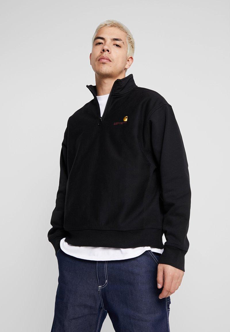 Carhartt WIP - HALF ZIP AMERICAN SCRIPT - Sweatshirt - black
