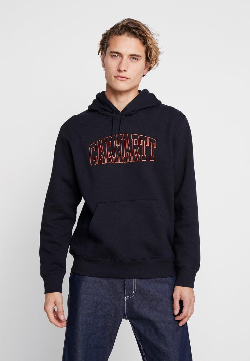 Carhartt WIP - HOODED THEORY EMBROIDERY - Hoodie - dark navy/brick orange