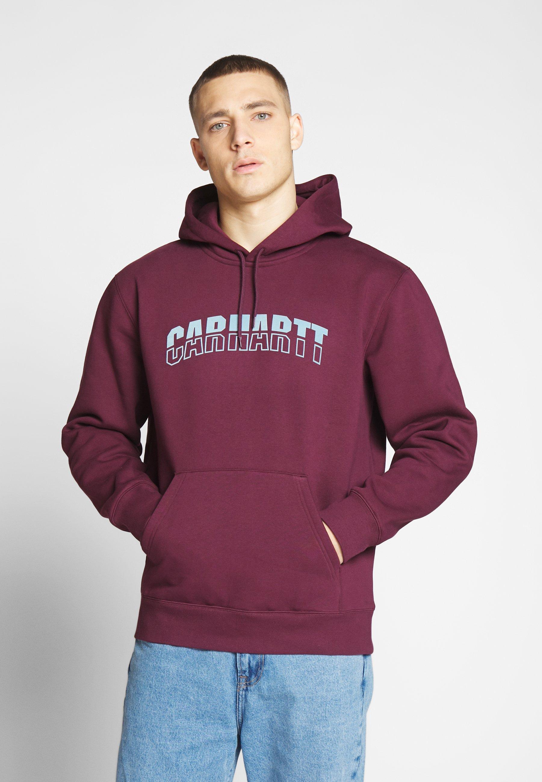 Carhartt WIP HOODED DISTRICT - Bluza z kapturem - shiraz/window