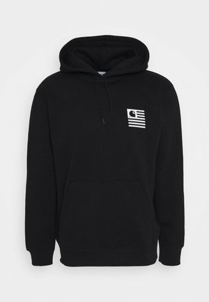 HOODED WAVING STATE FLAG - Luvtröja - black/white