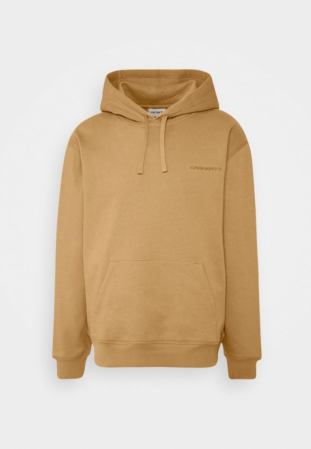 HOODED ASHLAND - Jersey con capucha - dusty brown