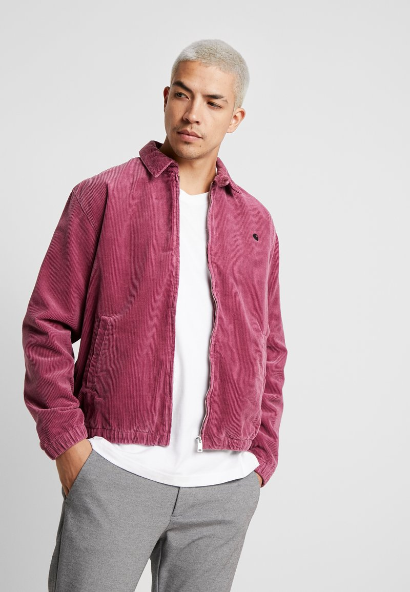 Carhartt WIP - MADISON JACKET - Korte jassen - dusty fuchsia/black rinsed