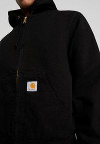 Carhartt WIP - ACTIVE JACKET DEARBORN - Chaqueta fina - black rinsed - 5