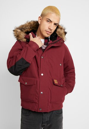 TRAPPER JACKET - Parka - mulberry/black