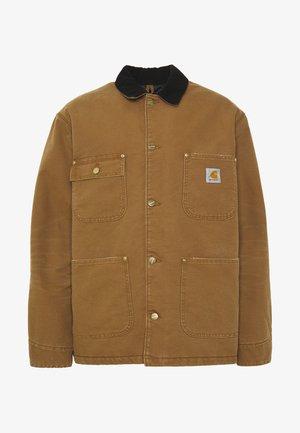 CHORE COAT DEARBORN - Lehká bunda - hamilton brown/black aged