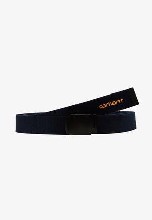 ORBIT BELT - Belt - dark navy/pop orange