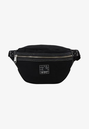 STRATFORD HIP BAG - Ledvinka - black/white
