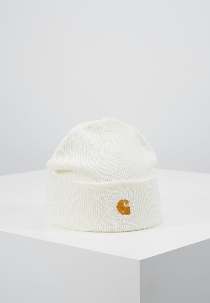 Carhartt WIP - CHASE BEANIE - Bonnet - white/gold