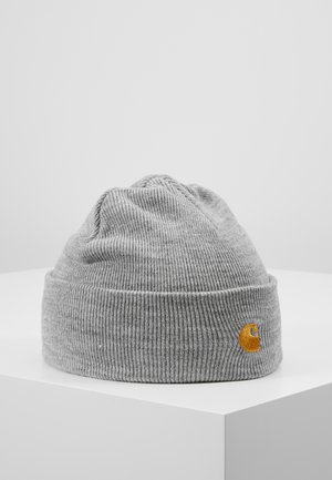 CHASE BEANIE - Mössa - grey heather/gold