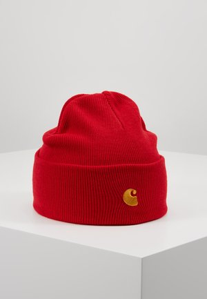 CHASE BEANIE - Pipo - etna red/gold