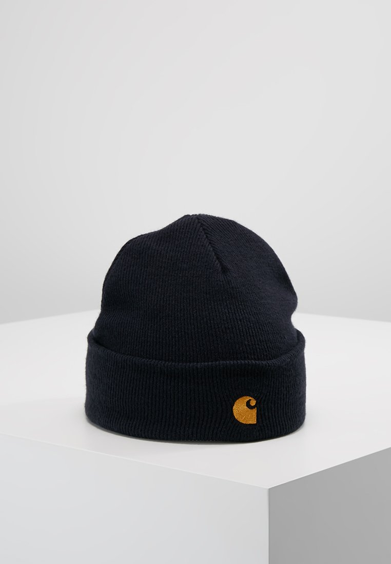 Carhartt WIP - CHASE BEANIE - Čepice - dark navy/gold-coloured