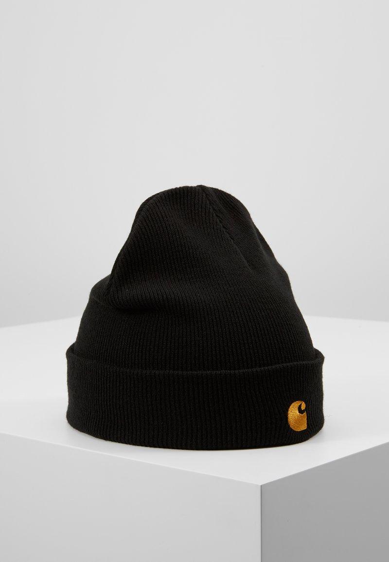 Carhartt WIP - CHASE BEANIE - Pipo - black/gold
