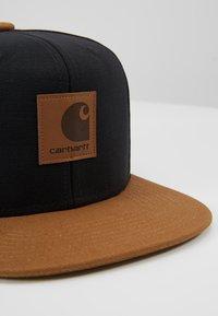 Carhartt WIP - LOGO BICOLORED - Cap - black/hamilton brown - 6