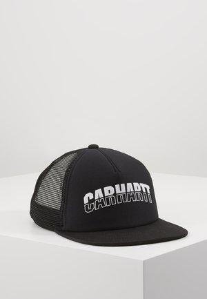 DISTRICT TRUCKER CAP - Lippalakki - black/white