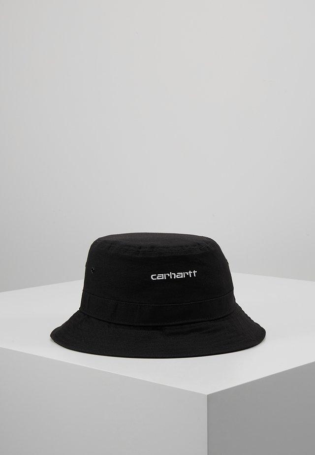 SCRIPT BUCKET HAT - Hatte - black/ white