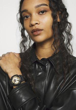 Chronograph watch - schwarz/gold-coloured