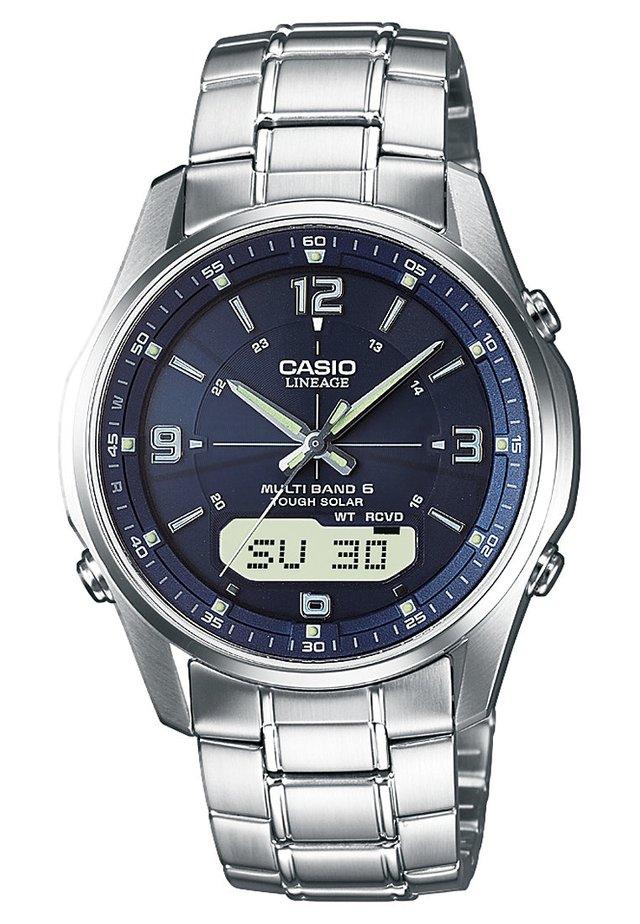 Chronograph watch - silberfarben/blau
