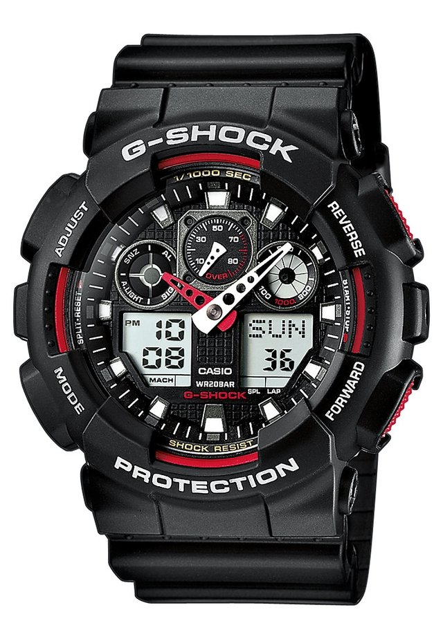 G-SHOCK - Chronograph - black/red