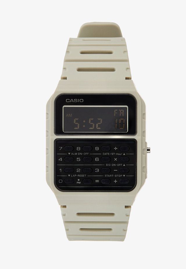 CA-53WF DIGITAL VINTAGE - Digitalklocka - off-white
