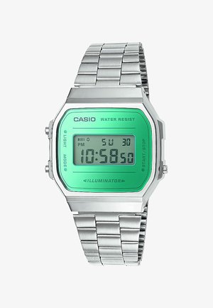 Digital watch - silver-coloured/green