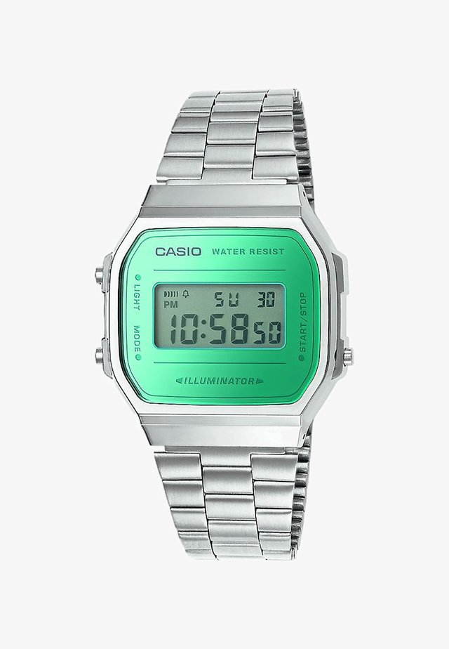 Digital watch - silver-coloured/green