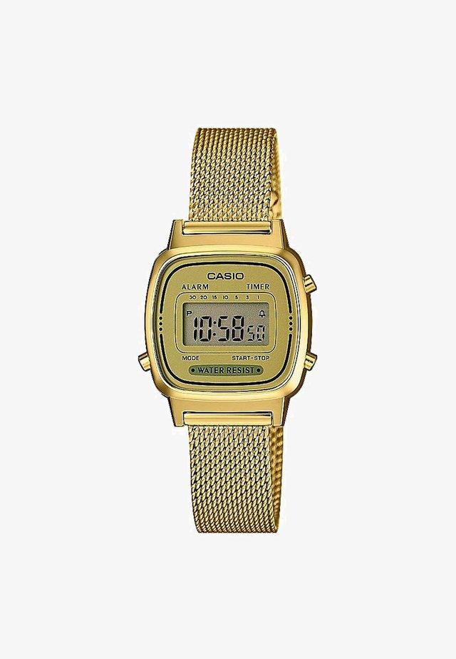 Zegarek cyfrowy - gold