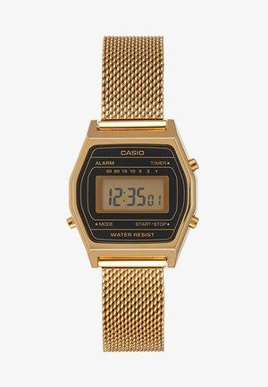 Digitální hodinky - goldfarben/schwarz