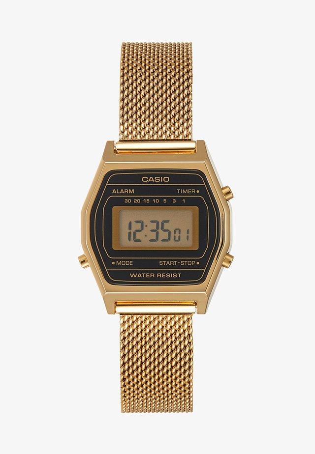 Zegarek cyfrowy - goldfarben/schwarz